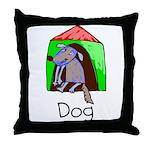 Kid Art Dog Throw Pillow