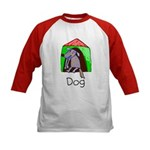 Kid Art Dog Kids Baseball Jersey
