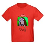 Kid Art Dog Kids Dark T-Shirt