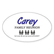 Carey Family Reunion Oval Decal