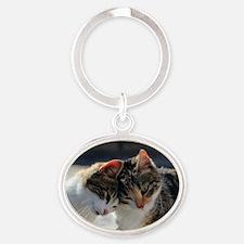 Cat_2015_0103 Oval Keychain