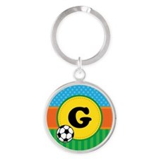 Soccer Sports Ball Personalized Keychains