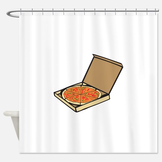PIZZA BOX Shower Curtain