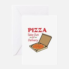 TAKE OUT OR DELIVERY Greeting Cards