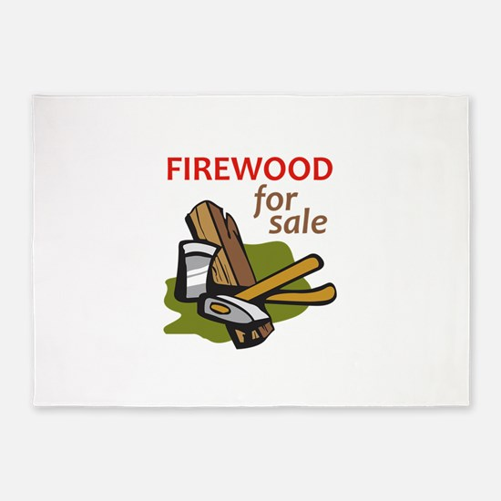 FIREWOOD FOR SALE 5'x7'Area Rug