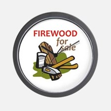 FIREWOOD FOR SALE Wall Clock