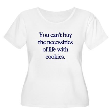 life cookies Women's Plus Size Scoop Neck T-Shirt