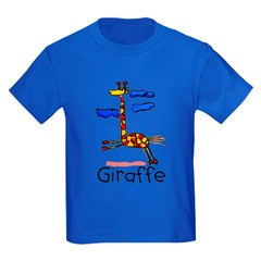 Kid Art Giraffe Kids Dark T-Shirt