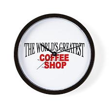 """The World's Greatest Coffee Shop"" Wall Clock"