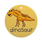 Kid Art Dinosaur Ornament (Round)