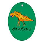 Kid Art Dinosaur Oval Ornament