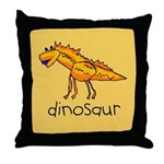 Kid Art Dinosaur Throw Pillow