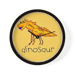 Kid Art Dinosaur Wall Clock