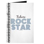 Blue Brown Future Rock Star Journal