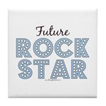 Blue Brown Future Rock Star Tile Coaster