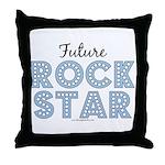 Blue Brown Future Rock Star Throw Pillow