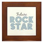Blue Brown Future Rock Star Framed Tile