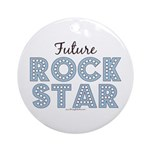 Blue Brown Future Rock Star Ornament (Round)