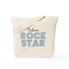 Blue Brown Future Rock Star Tote Bag