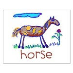 Kid Art Horse Small Poster