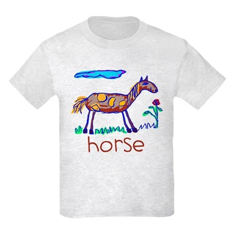 Kid Art Horse Kids Light T-Shirt