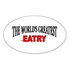 """""""The World's Greatest Eatry"""" Oval Decal"""