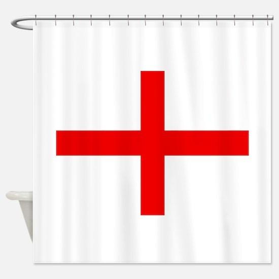 Cute Red cross Shower Curtain