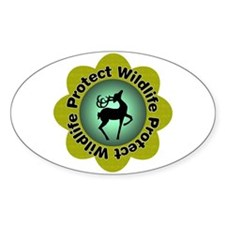 Protect Wildlife Oval Decal