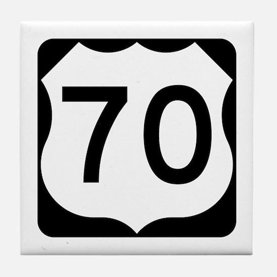 US Route 70 Tile Coaster