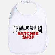 """The World's Greatest Butcher Shop"" Bib"