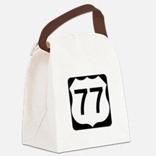 US Route 77 Canvas Lunch Bag