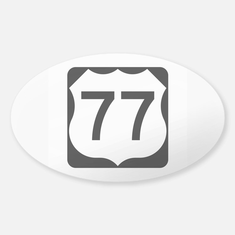 US Route 77 Sticker (Oval)
