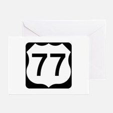 US Route 77 Greeting Cards (Pk of 10)