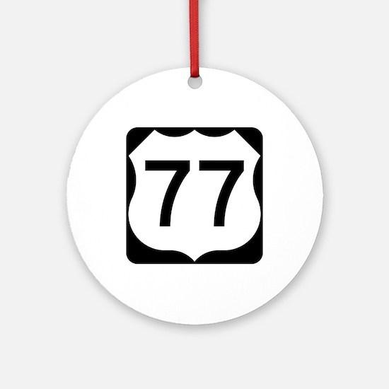 US Route 77 Ornament (Round)