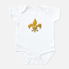 Gold Fleur de lis Infant Bodysuit
