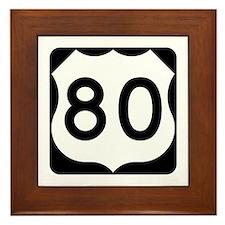 US Route 80 Framed Tile