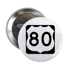 "US Route 80 2.25"" Button"