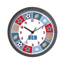 All Stars Sports Clock - Ben Wall Clock