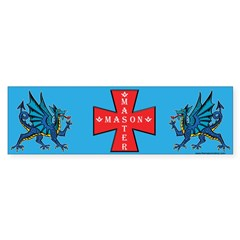 Master Masons Dragon. Bumper Bumper Sticker