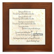 Apache Wedding Prayer Framed Tile