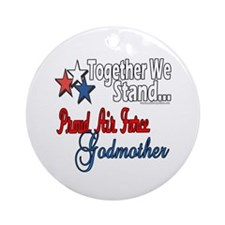 Air Force Godmother Ornament (Round)