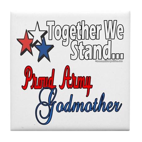 Army Godmother Tile Coaster
