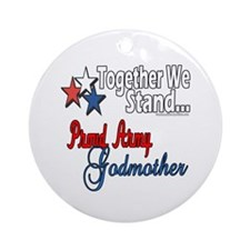 Army Godmother Ornament (Round)