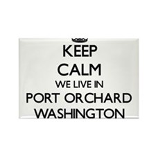 Keep calm we live in Port Orchard Washingt Magnets