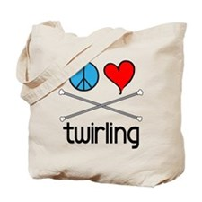 Peace Love Twirling Tote Bag