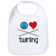 Peace Love Twirling Bib