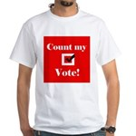 Count my vote (red) White T-Shirt