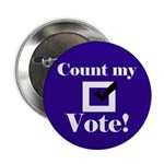 Count my Vote (Blue) Button