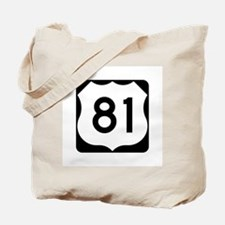 US Route 81 Tote Bag