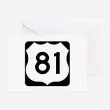 US Route 81 Greeting Cards (Pk of 10)